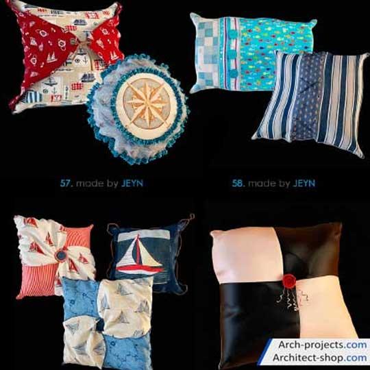 دانلود آبجکت بالشت - pillows 3dobjects
