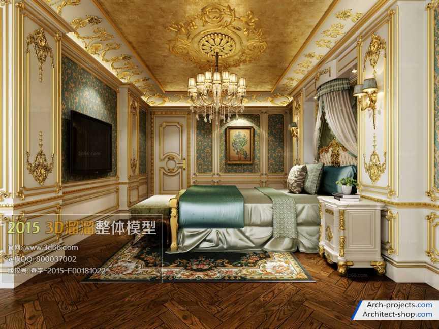 آبجکت اتاق خواب به سبک اروپای