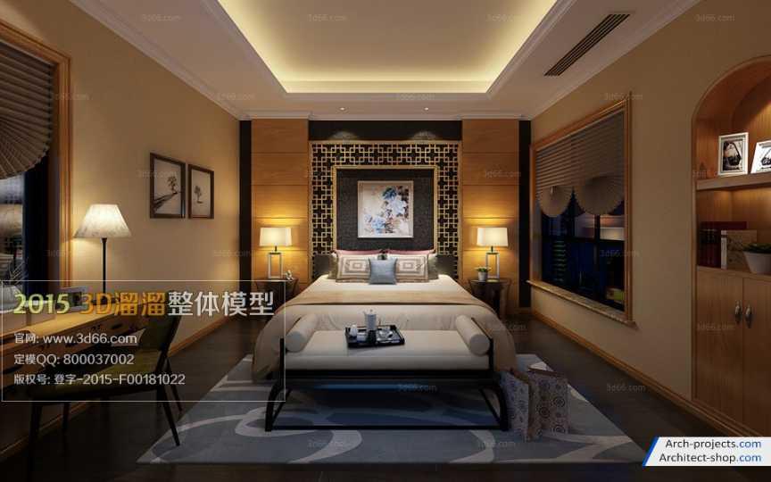 دانلود مدل سه بعدی اتاق خواب