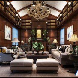 دانلود آبجکت اتاق نشیمن به سبک آمریکایی