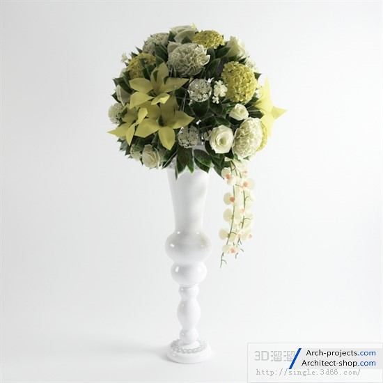 دانلود مدل سه بعدی گلدان تزئینی