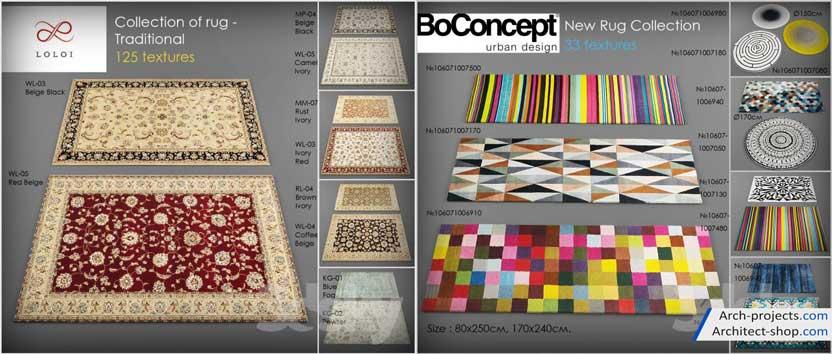 مدل سه بعدی فرش ایرانی