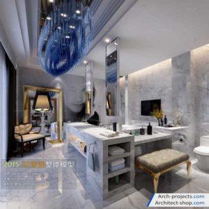 دانلود مدل سه بعدی حمام