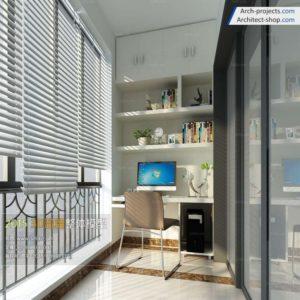 مدل سه بعدی اتاق مطالعه