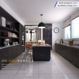 دانلود مدل سه بعدی رستوران و آشپزخانه