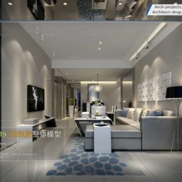 دانلود مدل سه بعدی اتاق نشیمن مدرن ولوم 1-5