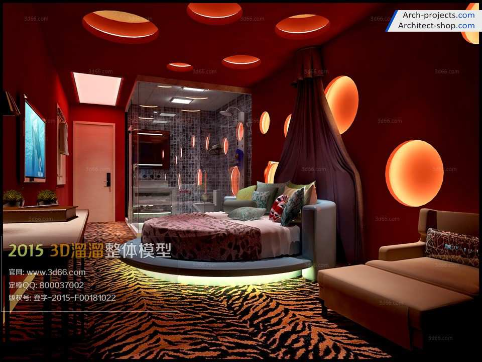 مدل سه بعدی سوئیت هتل