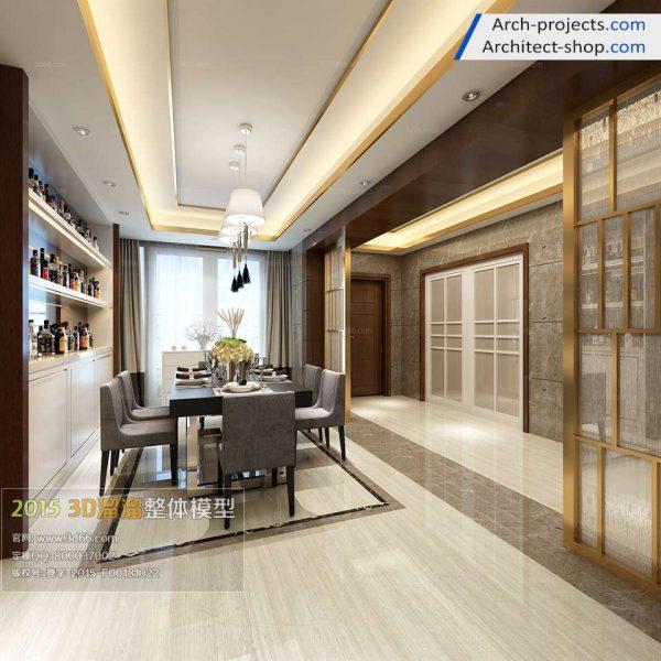 مدل سه بعدی رستوران و آشپزخانه