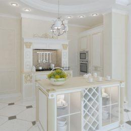 دانلود صحنه آماده کابینت آشپزخانه کلاسیک