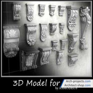 دانلود رایگان مدل سه بعدی سر ستون