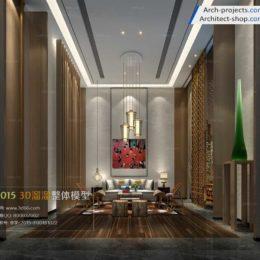 دانلود مدل سه بعدی اتاق نشیمن مدرن به سبک Fusion