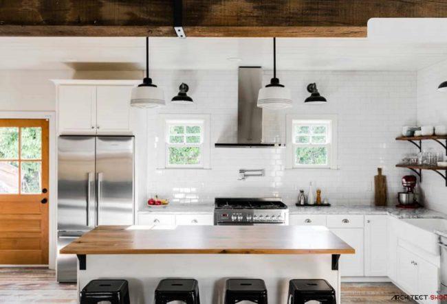 3 نمونه جذاب آشپزخانه سیاه و سفید