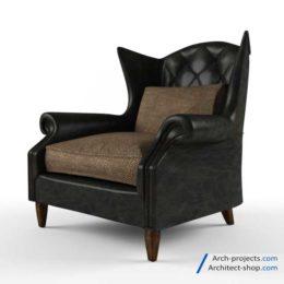 مدل سه بعدی صندلی راحتی کلاسیک