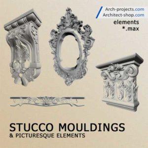 مدل سه بعدی تزئینات نما کلاسیک