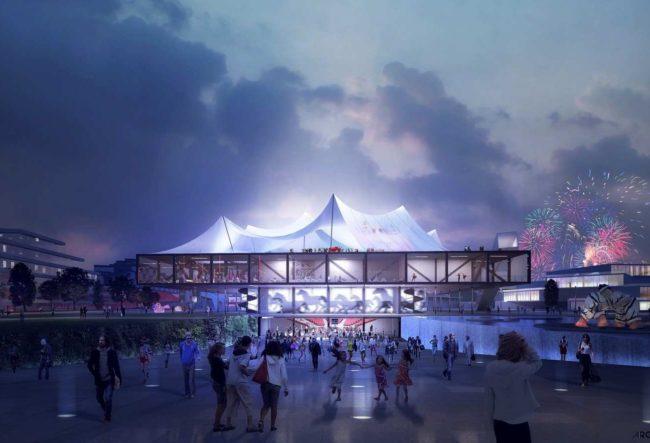 طراحی مرکز فرهنگی در فرانسه با الهام از چادر های سیرک