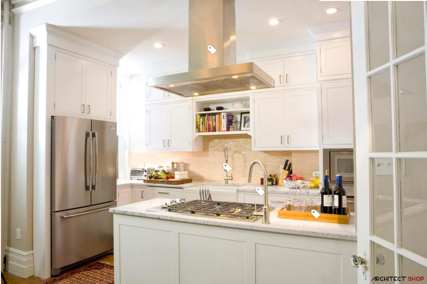 کانسپتهای طراحی پیشخوان آشپزخانه - house beach style kitchen atlanta 5