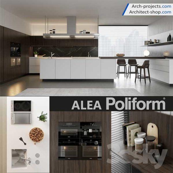 دانلود 11 صحنه آماده کابینت آشپزخانه - kitchen 1 600x600