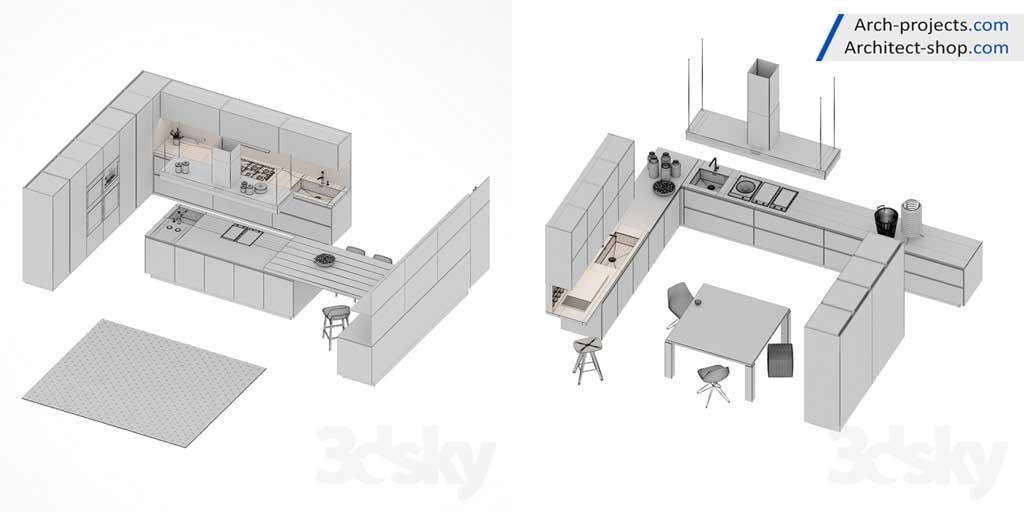 صحنه آماده کابینت آشپزخانه