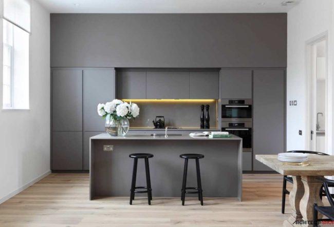 طراحی 30 آشپزخانه ی خاکستری فوق العاده
