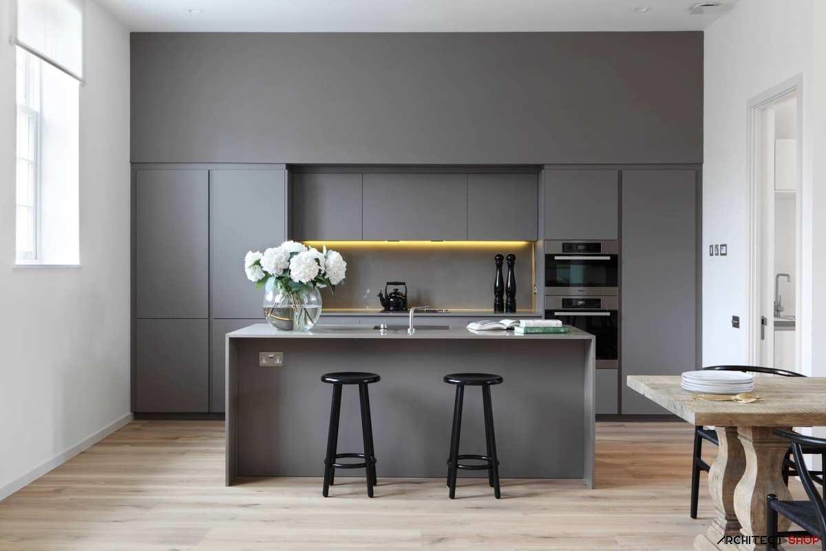 آشپزخانه ی خاکستری