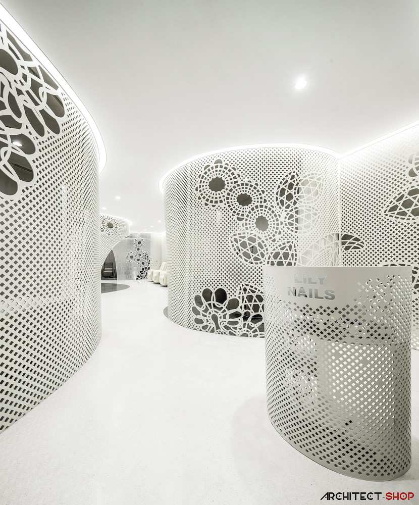 طراحی داخلی سالن کاشت ناخن