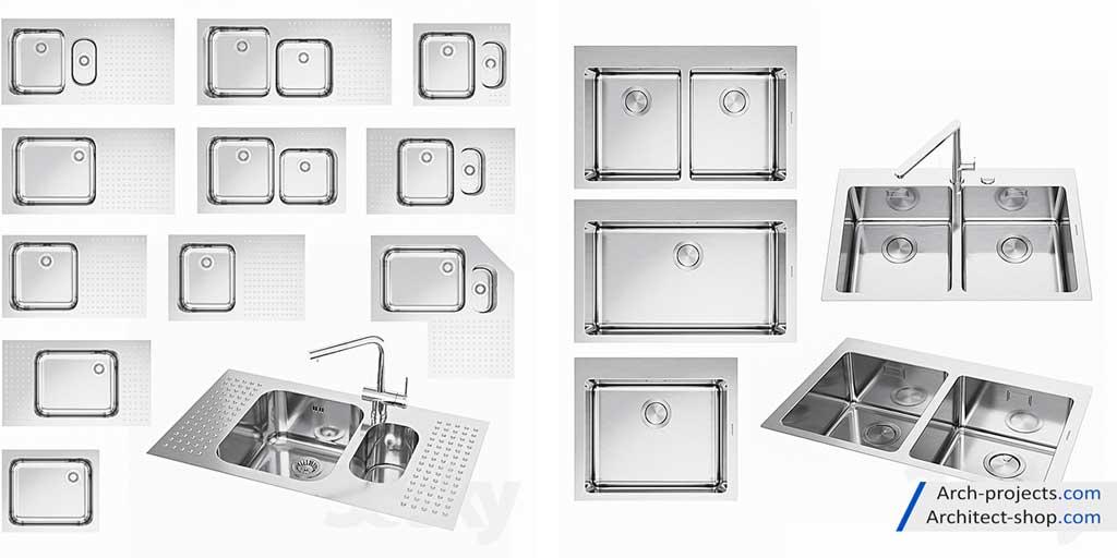 دانلود مدل سه بعدی سینک ظرفشویی - sink 5