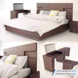 دانلود مدل سه بعدی تخت خواب – بخش دوم