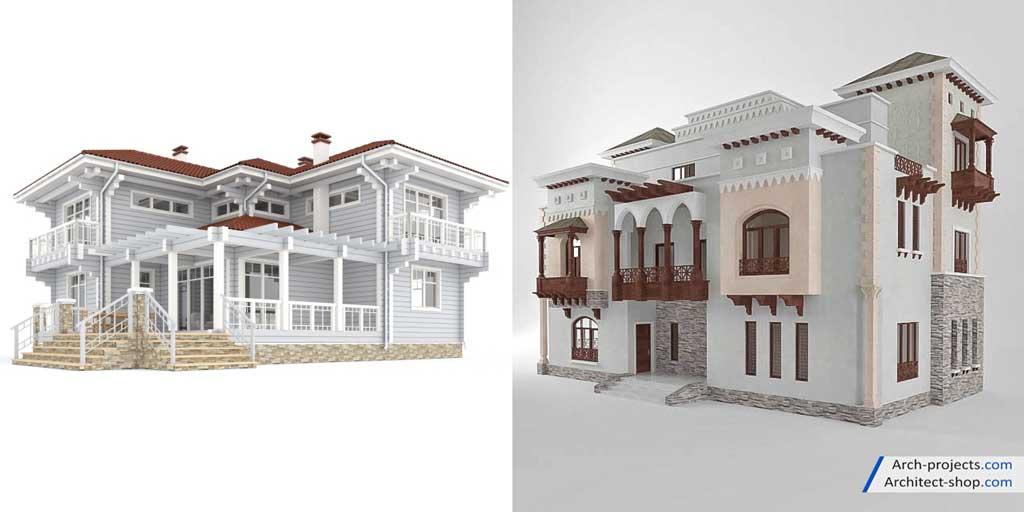 مدل نمای ساختمان کلاسیک