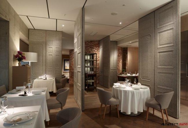 طراحی خلاقانه دیوارهای متحرک برای رستوران