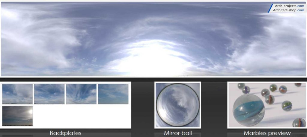دانلود HDRI آسمان - HDRI Skydomes 3 1024x458
