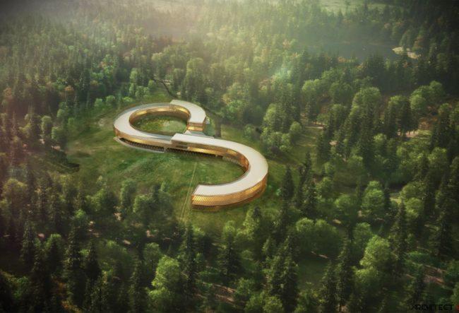 طراحی هتل کوهستانی BESKIDS