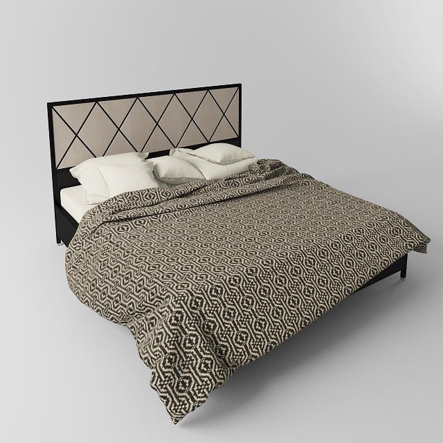 دانلود مدل سه بعدی تخت خواب کلاسیک و مدرن