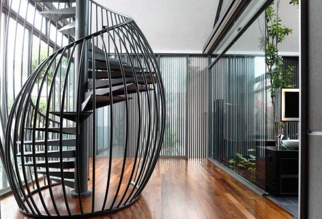 طراحی خلاقانه 16 مدل پله گرد مدرن