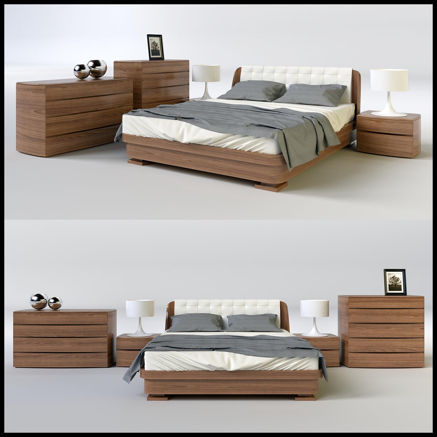 دانلود رایگان مدل سه بعدی تخت خواب مدرن