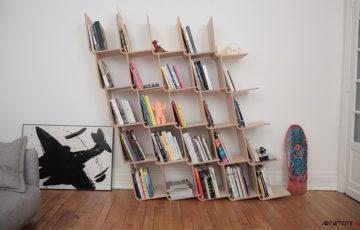 طراحی خلاقانه قفسه L شکل توسط استودیو آبجت آپتیمایس