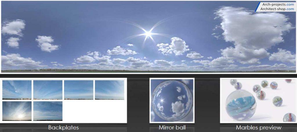 دانلود HDRI آسمان - hdri sky 5 1024x457