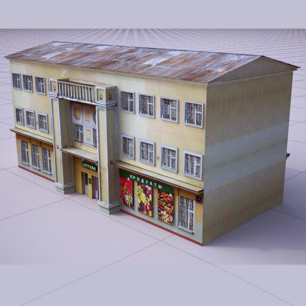 آبجکت نمای ساختمان کلاسیک