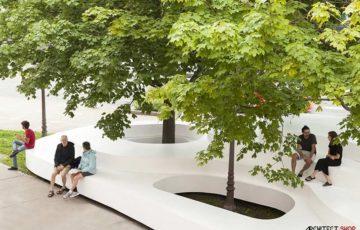 طراحی خلاقانه مبلمان شهری با عناصر طبیعی