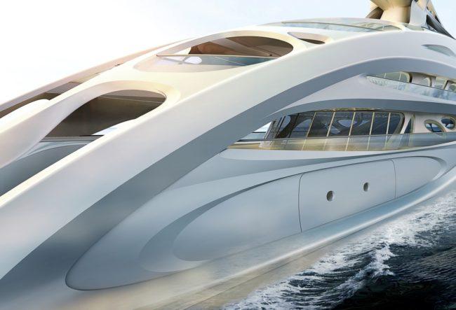 طراحی منحصر به فرد کشتی تفریحی توسط زاها حدید