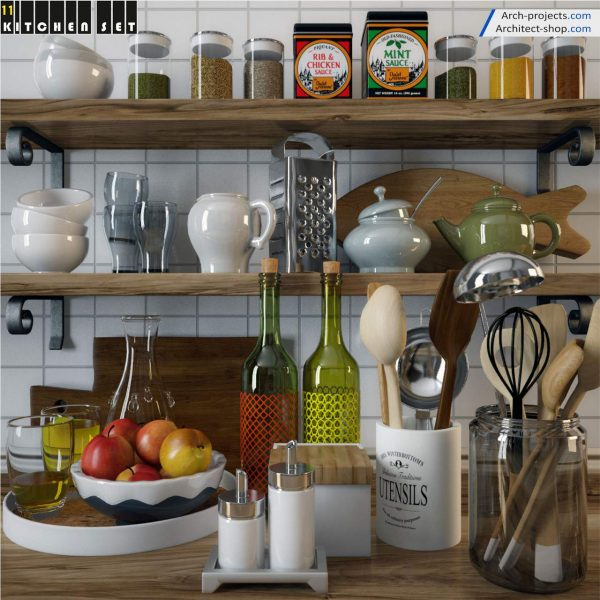 پک آبجکت کابینت و لوازم آشپزخانه - 11 600x600