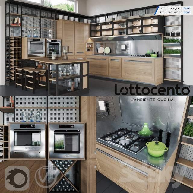 آبجکت 3dmax کابینت آشپزخانه