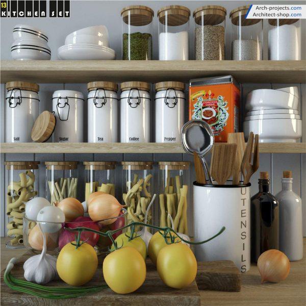 پک آبجکت کابینت و لوازم آشپزخانه - 12 600x600