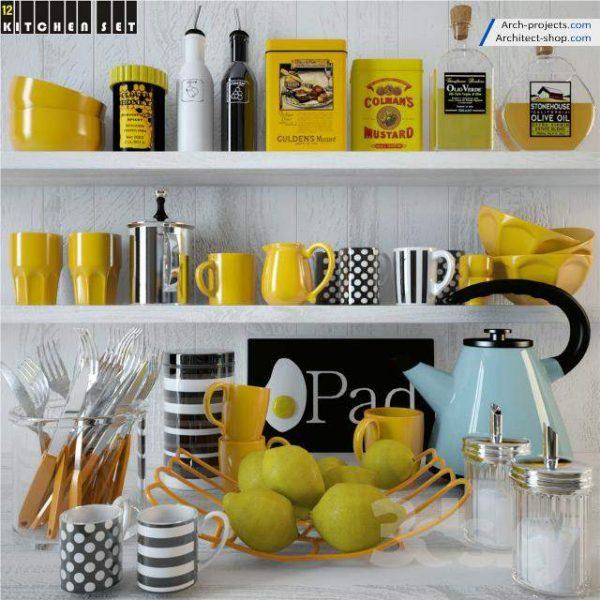 پک آبجکت کابینت و لوازم آشپزخانه - 13 1 600x600