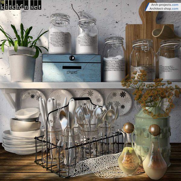 پک آبجکت کابینت و لوازم آشپزخانه - 2 600x600