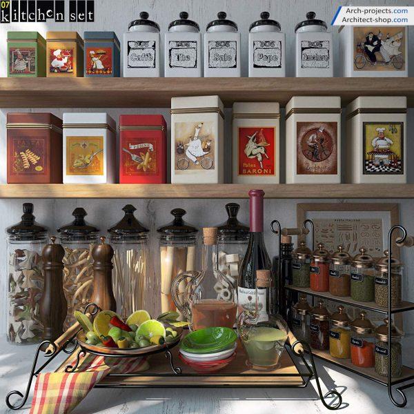 پک آبجکت کابینت و لوازم آشپزخانه - 3 600x600