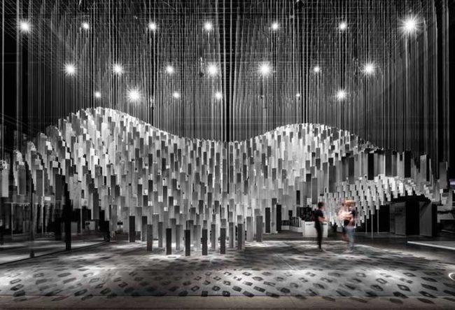 طراحی غرفه نمایشگاهی Alumilux با استفاده از آلومینیوم و شیشه