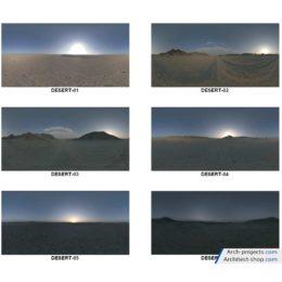 دانلود HDRI کویر و طلوع خورشید