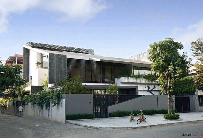 طراحی ویلایی با رعایت اصول معماری پایدار در ویتنام