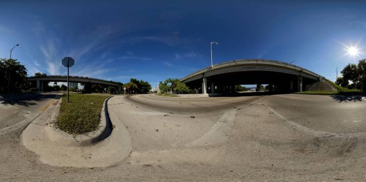 HDRI جاده و خیابان