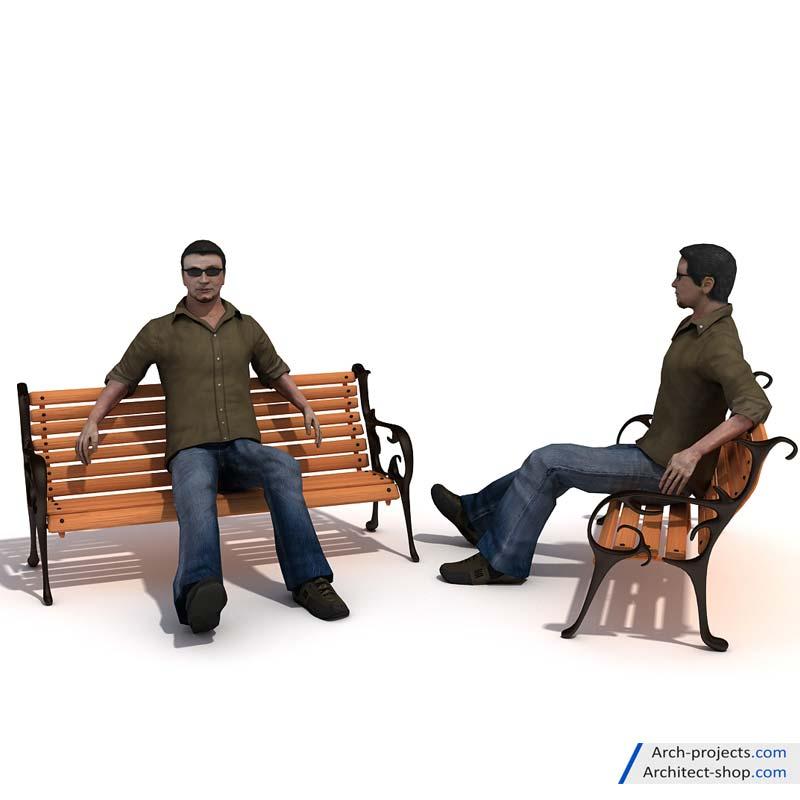مدل سه بعدی اسکن شده انسان